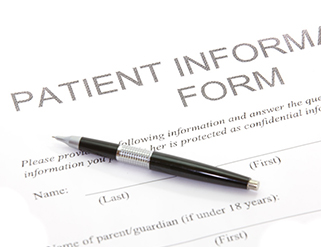 Patient forms for chiropractic services